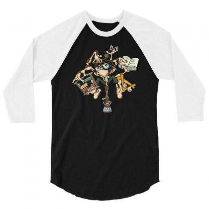 Brilliant Monkey 3/4 Sleeve Shirt Designed By S4poolart
