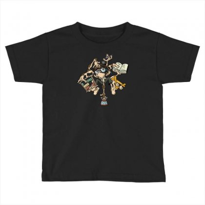 Brilliant Monkey Toddler T-shirt Designed By S4poolart