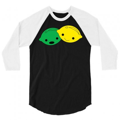 Lemon Lime 3/4 Sleeve Shirt Designed By Ismanurmal4