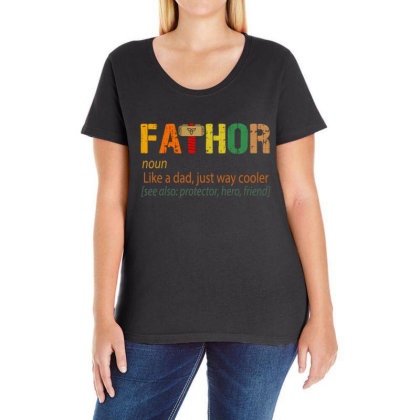 Fathor Like A Dad, Just Way Cooler Ladies Curvy T-shirt Designed By Kakashop