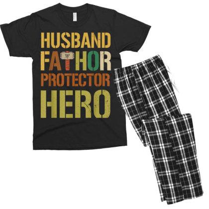 Husband Fathor Protector Hero Men's T-shirt Pajama Set Designed By Kakashop