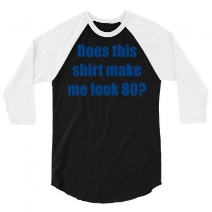 Eighty 80 Birthday 3/4 Sleeve Shirt Designed By Meid4_art