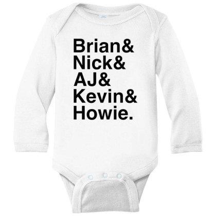 Names Helvetica Ampersand Long Sleeve Baby Bodysuit Designed By Blqs Apparel