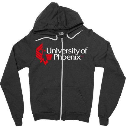 University Of Phoenix Zipper Hoodie Designed By Cahyorin