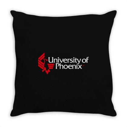 University Of Phoenix Throw Pillow Designed By Cahyorin