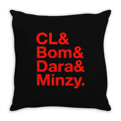Cl And Bom And Dara And Minzy Throw Pillow Designed By Cahyorin