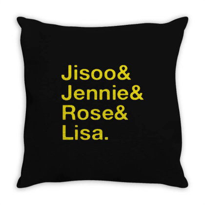 Jisoo And Jennie And Rose And Lisa Throw Pillow Designed By Cahyorin