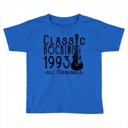 Rocking Since 1993 Toddler T-shirt Designed By Teresabrador