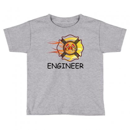 Fire Department Engineer Toddler T-shirt Designed By Sabriacar