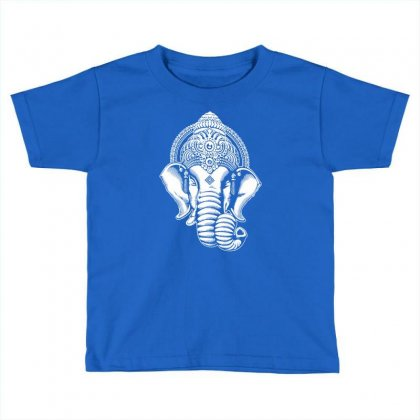 Ganesha  Hindu Yoga Toddler T-shirt Designed By Tonyhaddearts