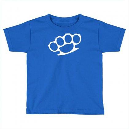 Brass Knuckles Toddler T-shirt Designed By Mdk Art