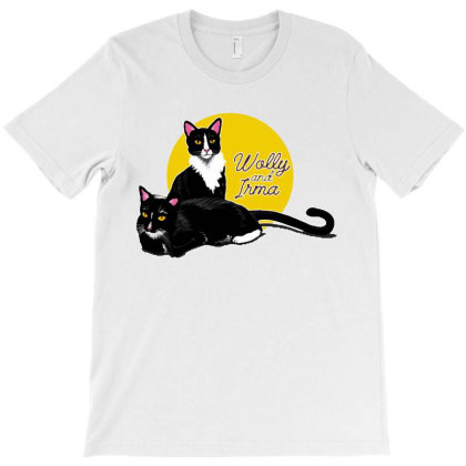 Funny Cats Wolly And Irma T-shirt Designed By Vanode Art