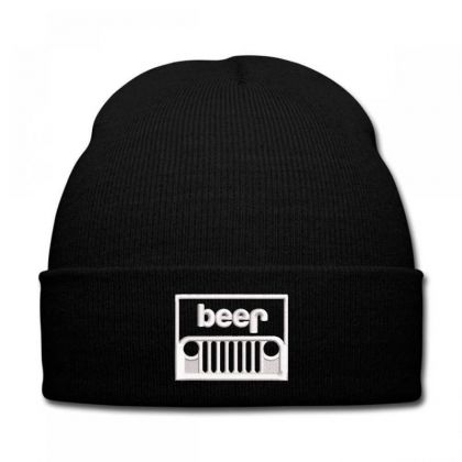 Jeep Beer Embroidery Embroidered Hat Knit Cap Designed By Madhatter