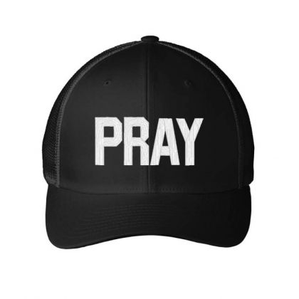 Pray  Embroidery Embroidered Hat Embroidered Mesh Cap Designed By Madhatter