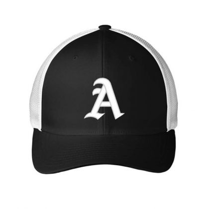 Old English Style Initial Letter A Embroidered Hat Embroidered Mesh Cap Designed By Madhatter