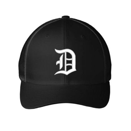 Old English Style Initial Letter D Embroidered Hat Embroidered Mesh Cap Designed By Madhatter