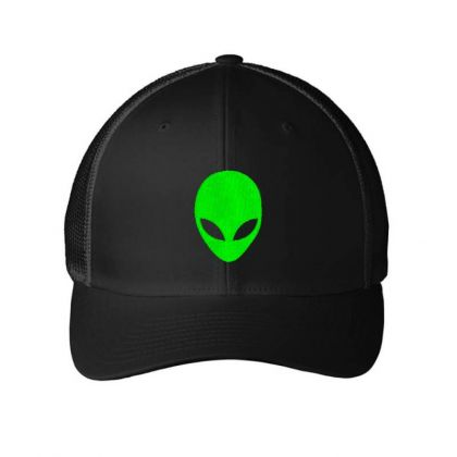 Alien Head Embroidery Embroidered Hat Embroidered Mesh Cap Designed By Madhatter