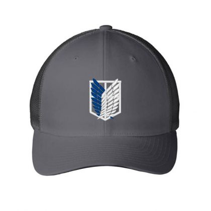Attack Titan Embroidered Mesh Cap Designed By Madhatter