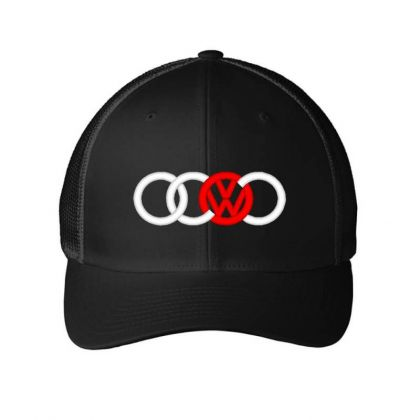 Audi Volkswagen Dope Embroidered Mesh Cap Designed By Madhatter