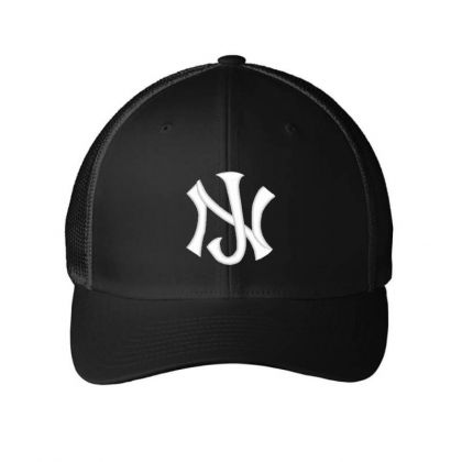 New Jersey Logo Embroidery Embroidered Hat Embroidered Mesh Cap Designed By Madhatter