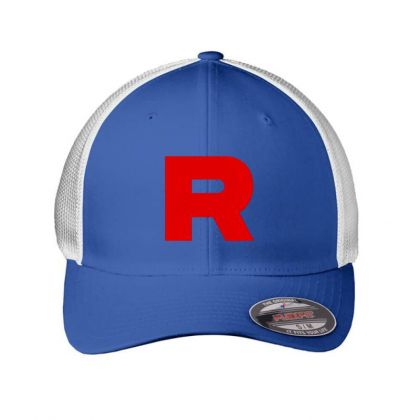 Team Rocket Embroidery Embroidered Hat Embroidered Mesh Cap Designed By Madhatter