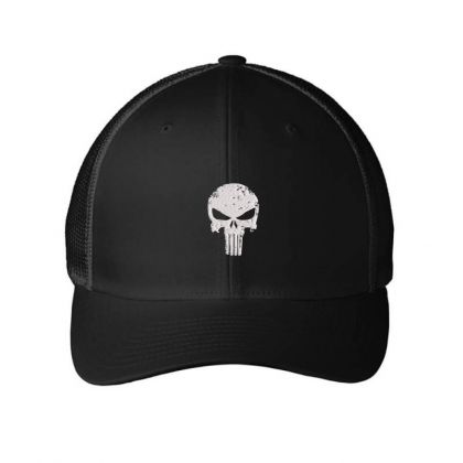 The Punisher Skul Embroidery Embroidered Hat Embroidered Mesh Cap Designed By Madhatter