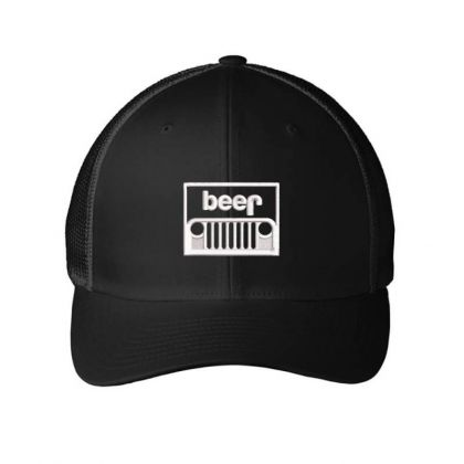 Jeep Beer Embroidery Embroidered Hat Embroidered Mesh Cap Designed By Madhatter