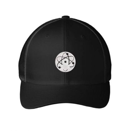Atom Symbol Embroidered Hat Embroidered Mesh Cap Designed By Madhatter
