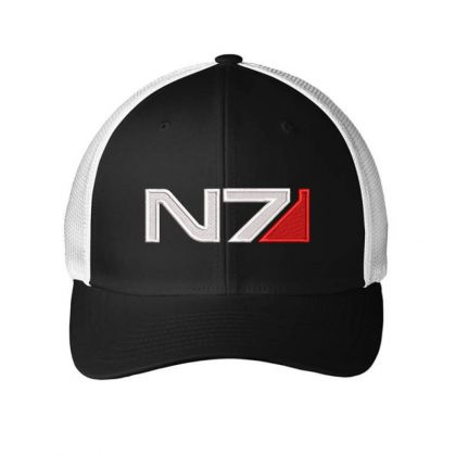 Mass Effect N7 Logo Embroidered Hat Embroidered Mesh Cap Designed By Madhatter
