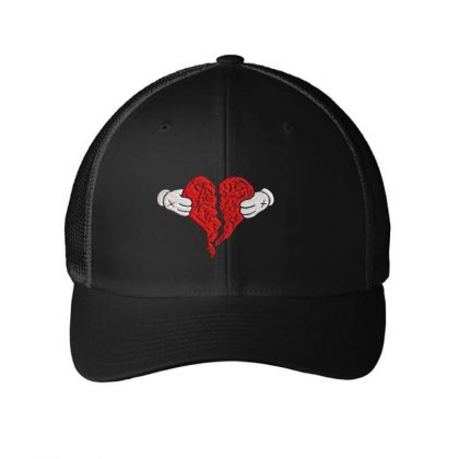 Kanye West 808s And Heart Break Embroidered Hat Embroidered Mesh Cap Designed By Madhatter