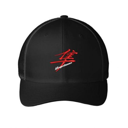 Hayabusa Kanji  Embroidered Hat Embroidered Mesh Cap Designed By Madhatter
