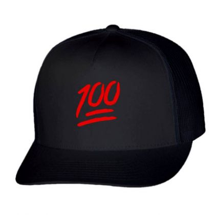 100 Emoji Embroidery Embroidered Hat Trucker Cap Designed By Madhatter