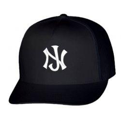New Jersey Logo Embroidery embroidered hat Trucker Cap | Artistshot