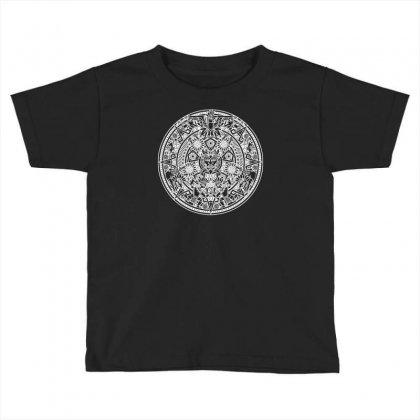 Azteken Aztec Mandala Inka Maya Inca Machu Picchu Gott Gods Funny Toddler T-shirt Designed By Mdk Art