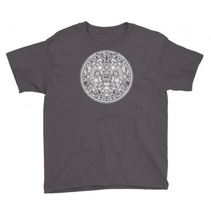 Azteken Aztec Mandala Inka Maya Inca Machu Picchu Gott Gods Funny Youth Tee Designed By Mdk Art