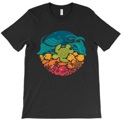 Aquarium Rainbow T-shirt Designed By Cahyorin