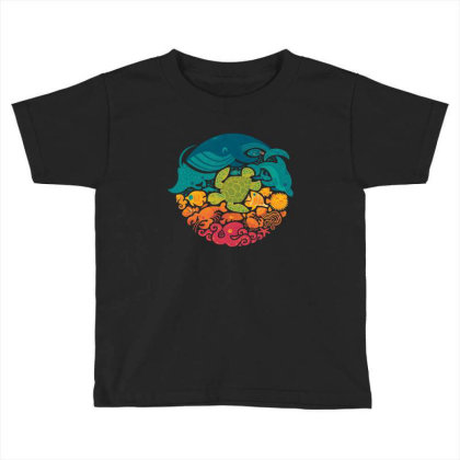 Aquarium Rainbow Toddler T-shirt Designed By Cahyorin