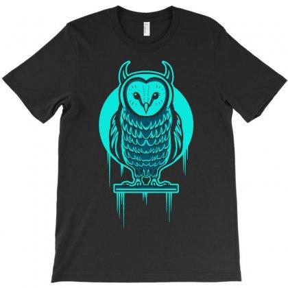 Evil Barn Owl T-shirt Designed By Mdk Art