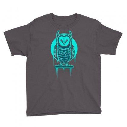 Evil Barn Owl Youth Tee Designed By Mdk Art
