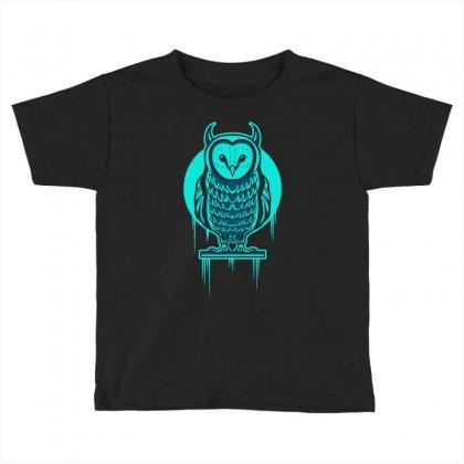 Evil Barn Owl Toddler T-shirt Designed By Mdk Art