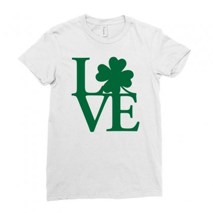 I Love Ireland Ladies Fitted T-shirt Designed By Mdk Art