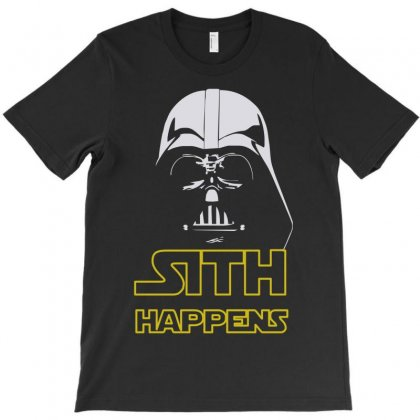 Star Wars Darth Vader Sith Happens Funny Quote T-shirt Designed By Mdk Art