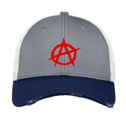 Anarchy Embroidery Embroidered Hat Vintage Mesh Cap | Artistshot