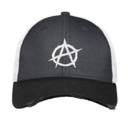 Anarchy Embroidery Embroidered Hat Vintage Mesh Cap Designed By Madhatter