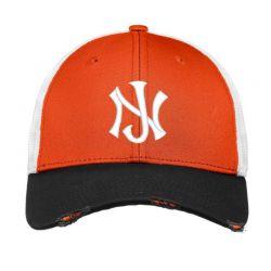 New Jersey Logo Embroidery embroidered hat Vintage Mesh Cap | Artistshot