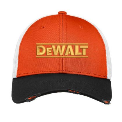 Dewalt Embroidery Embroidered Hat Vintage Mesh Cap Designed By Madhatter