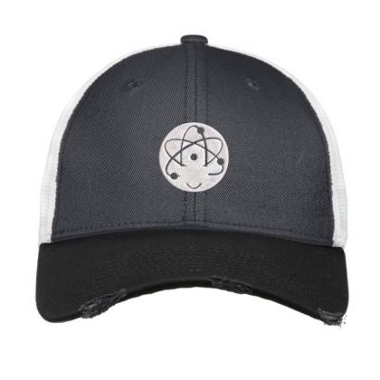 Atom Symbol Embroidered Hat Vintage Mesh Cap Designed By Madhatter