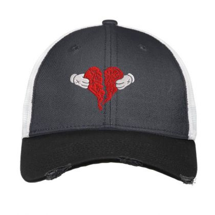 Kanye West 808s And Heart Break Embroidered Hat Vintage Mesh Cap Designed By Madhatter