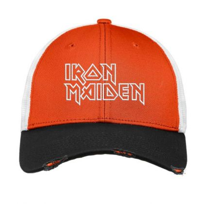 Iron Maiden Embroidered Hat Vintage Mesh Cap Designed By Madhatter