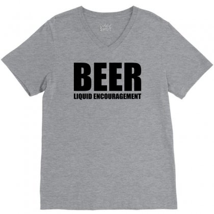 Beer Liquid Encouragement V-neck Tee Designed By Mdk Art